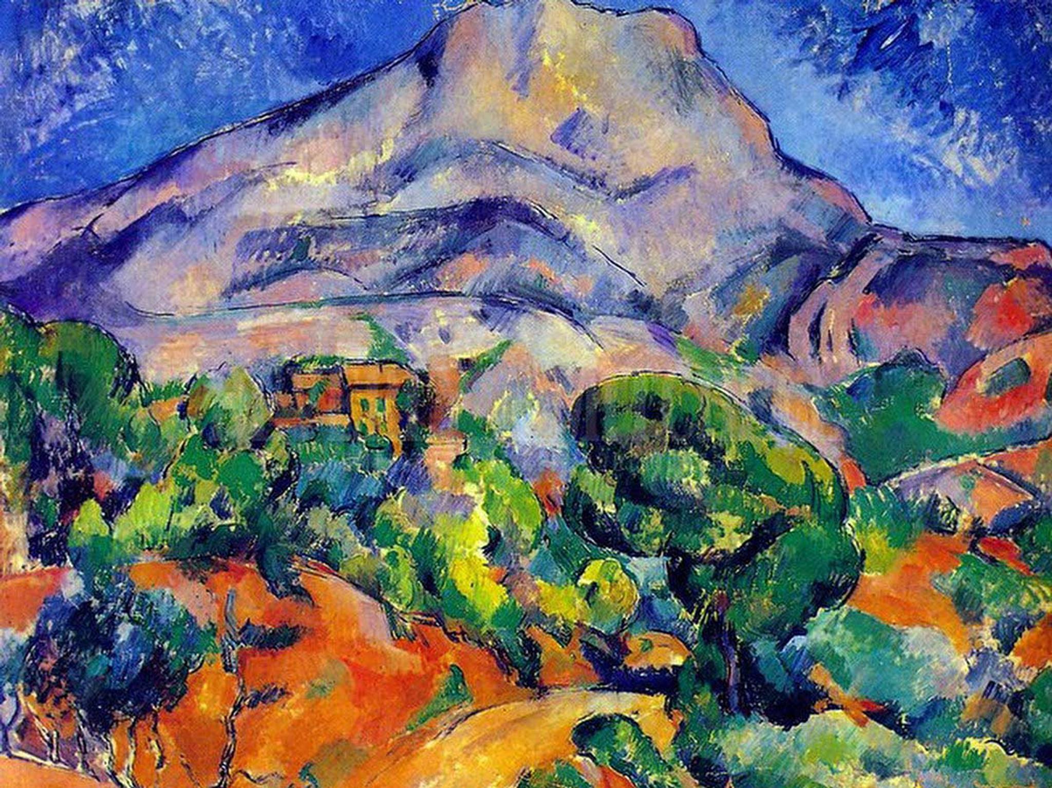 la montagne sainte victoire au dessus de la route de tholonet 1896 1898 by paul cezanne