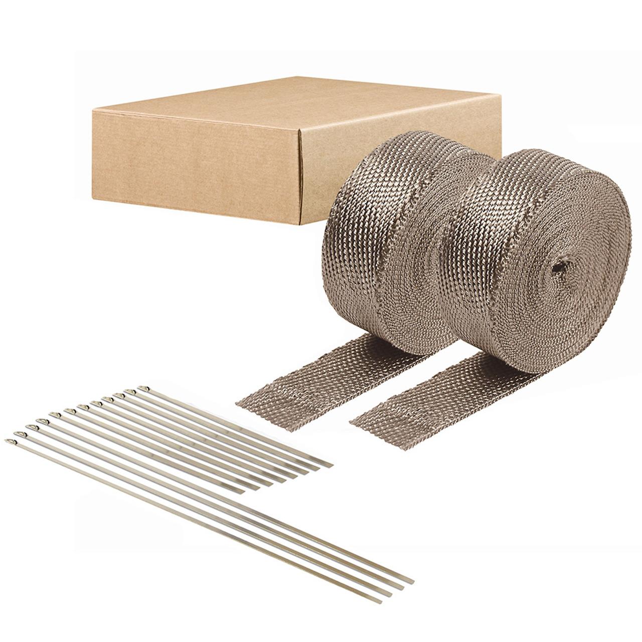 titanium exhaust wrap kit