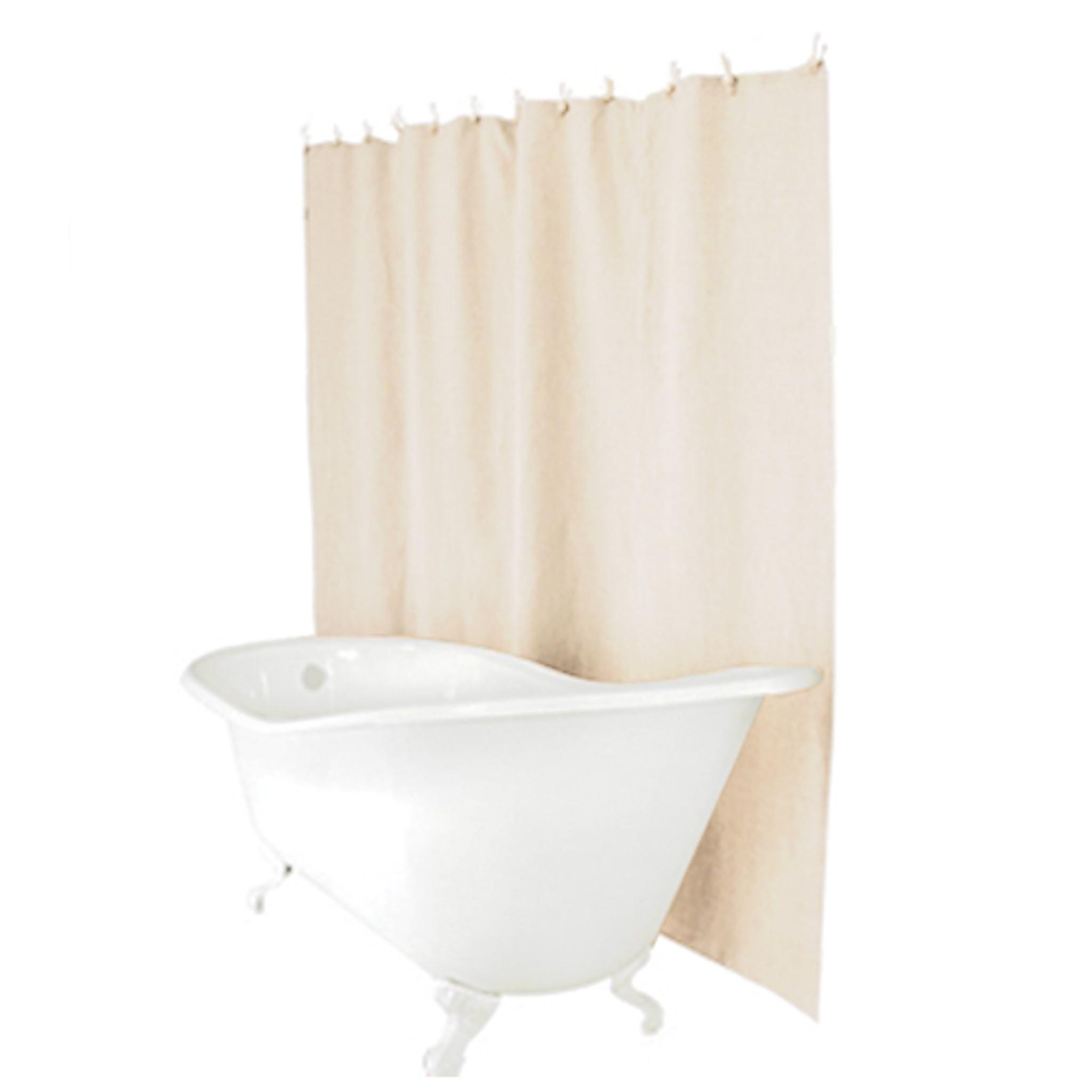 linen shower curtain natural
