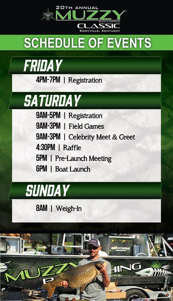 Muzzy Classic Schedule