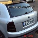 Skoda Fabia Tinted Tail Light Lense Protection Covers Smoked Lamp Overlays Kit Skoda Blinglights Com
