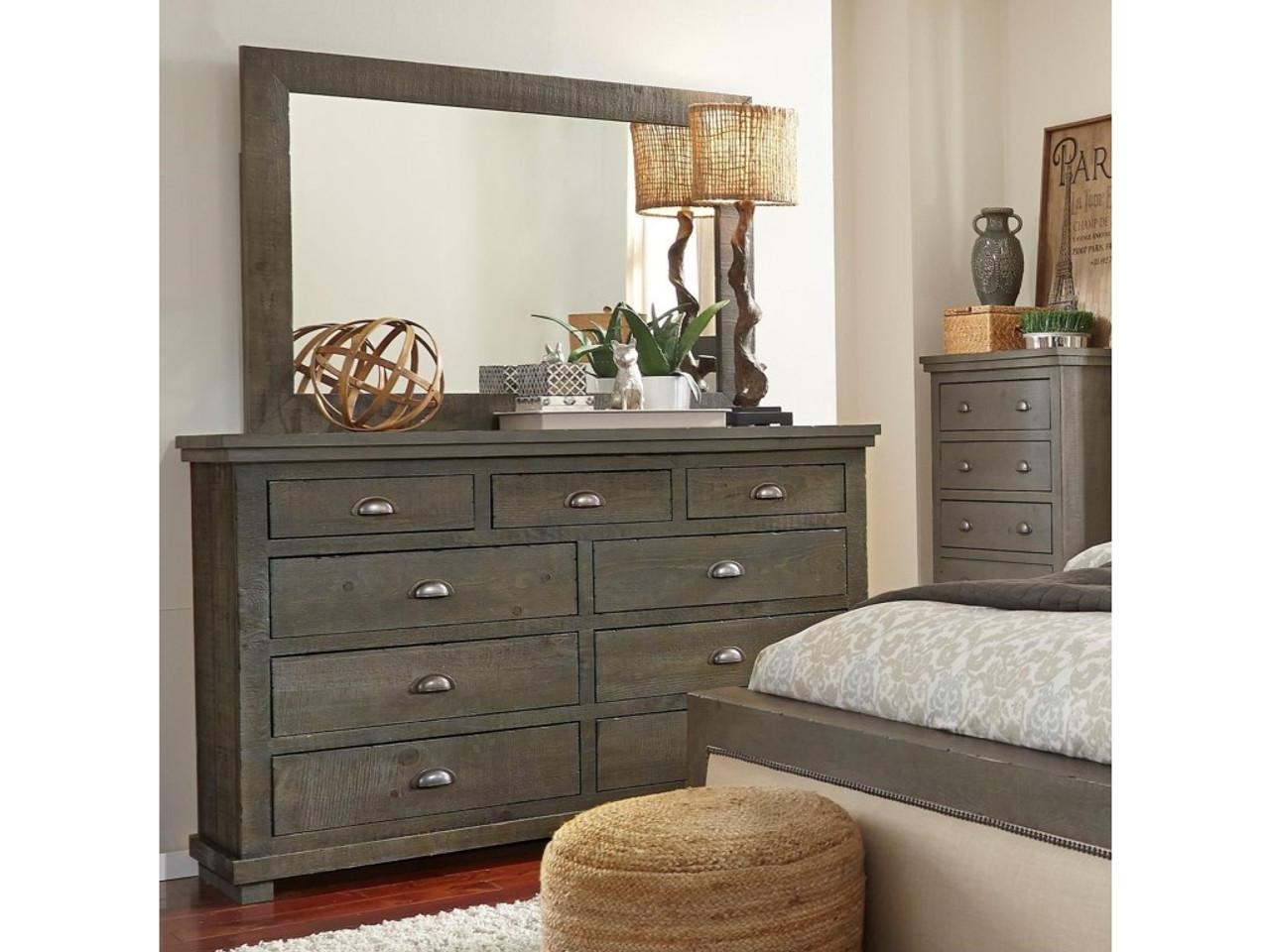 p600 willow distressed dark gray dresser