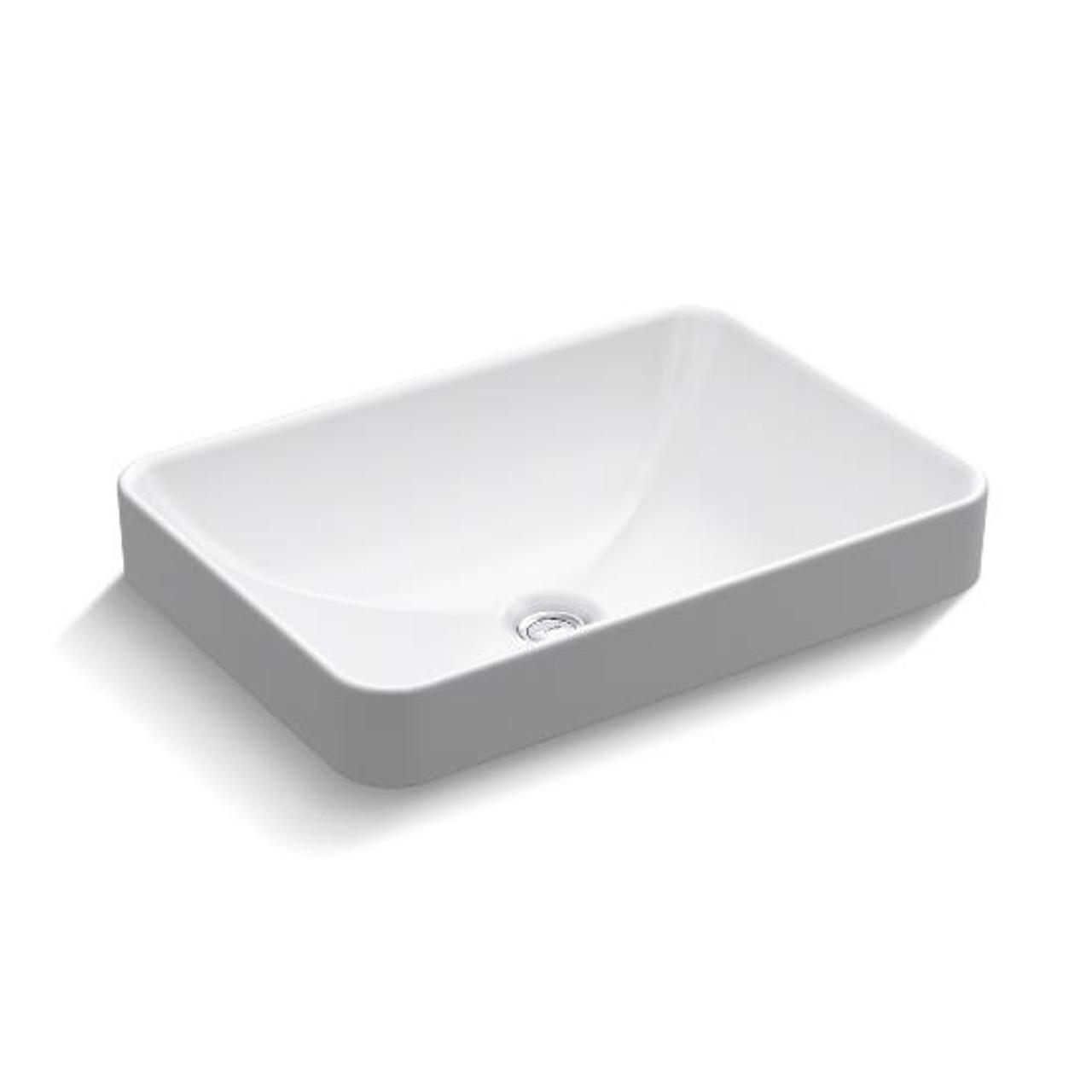 kohler vox rectangle vessel above counter bathroom sink k 5373