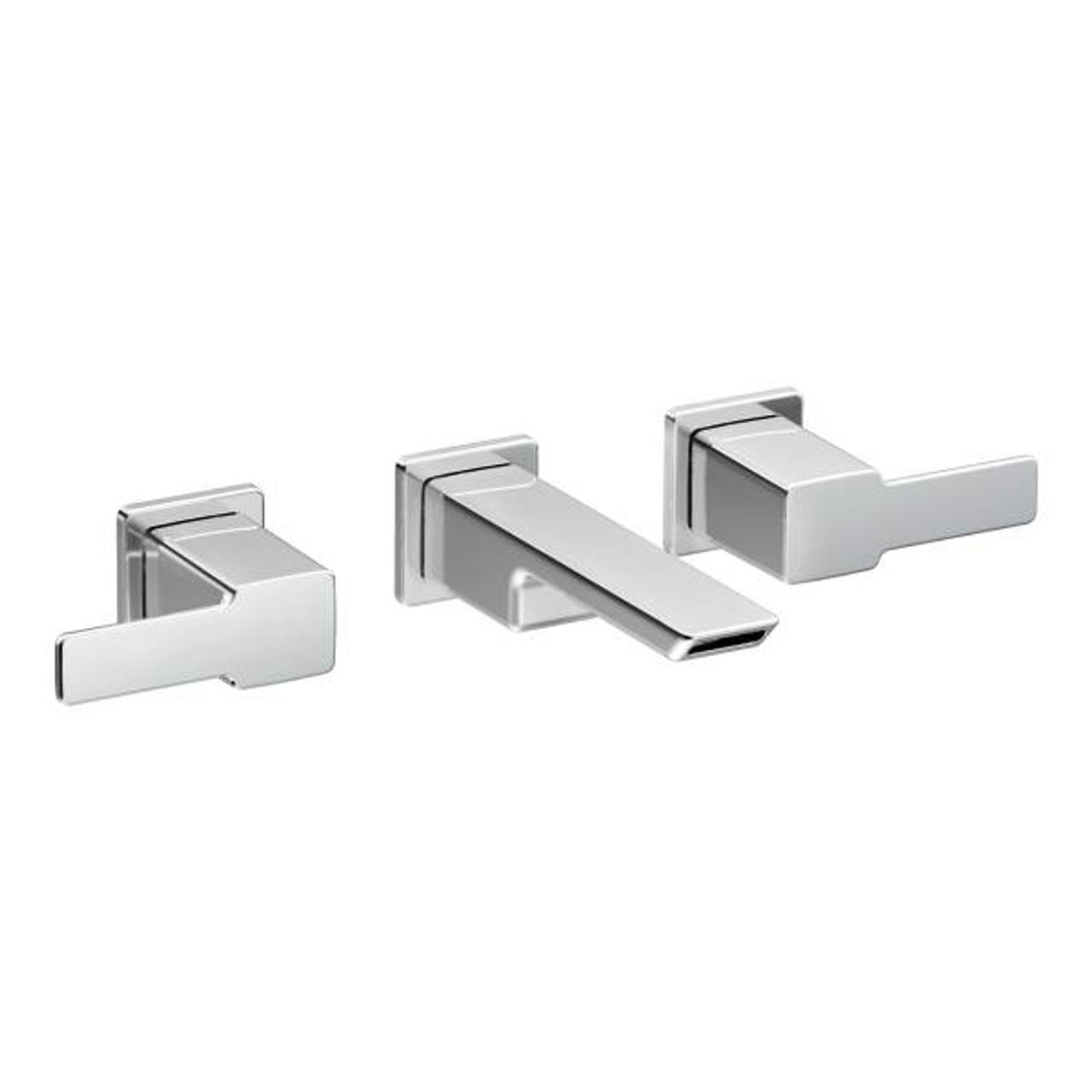 moen 90 degree two handle wall mount bathroom faucet
