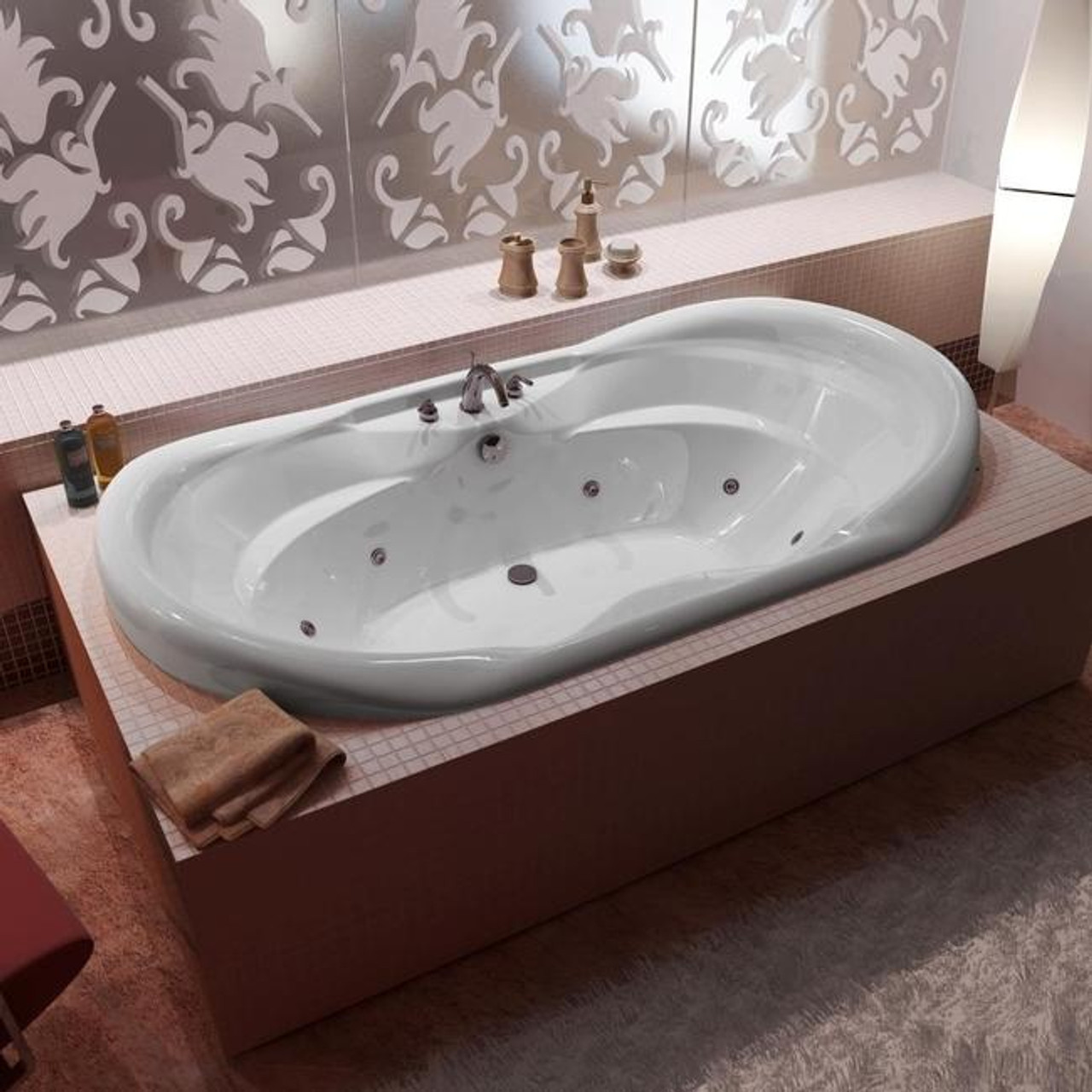 indulgence acrylic drop in corner tub soaker
