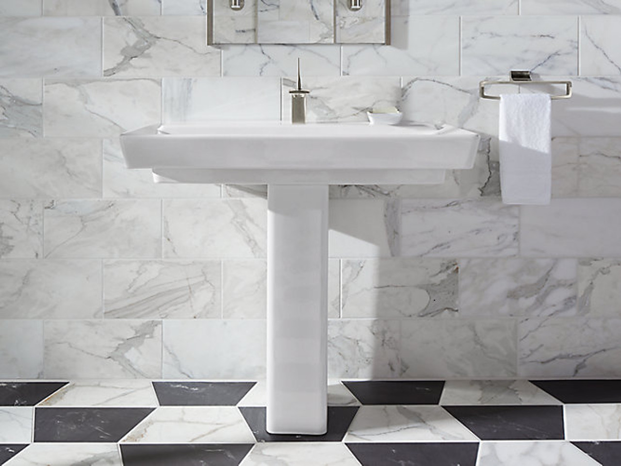 kohler 39 pedestal bathroom sink with single faucet hole
