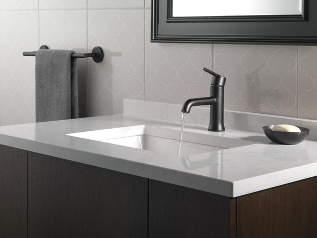 delta trinsic single handle lavatory faucet venetian bronze