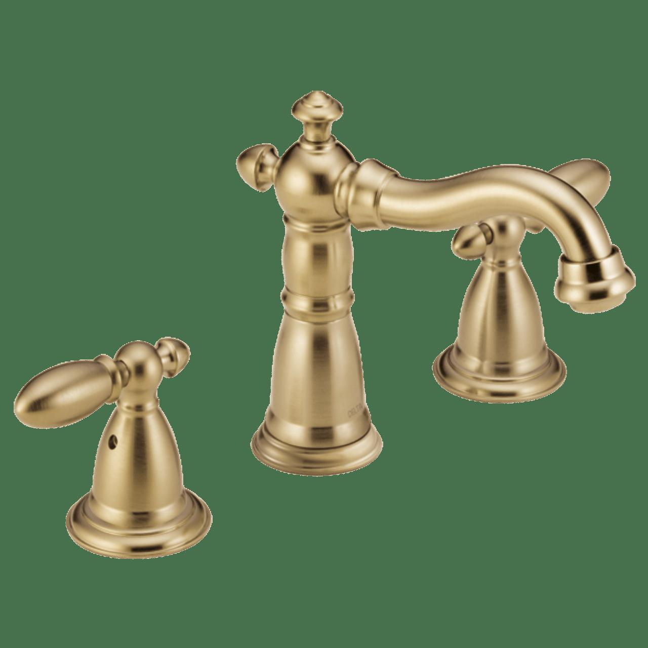 delta victorian two handle widespread lavatory faucet champagne bronze