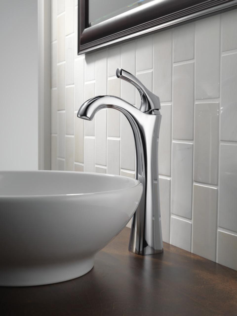 delta addison single handle vessel lavatory faucet chrome