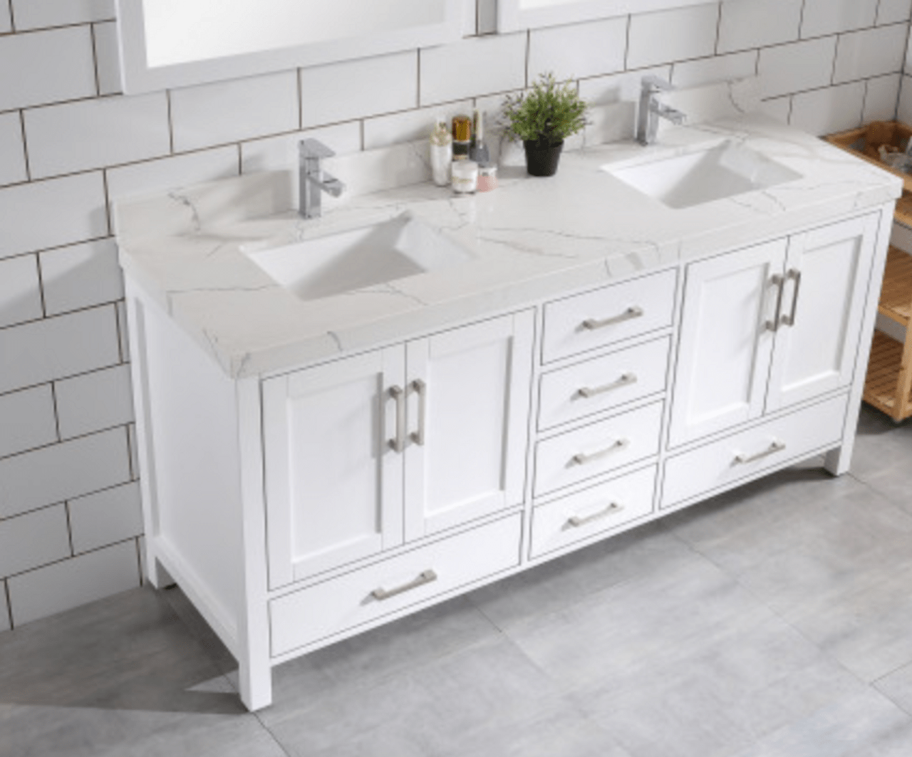 royal palmera collection 65 inch white double sink bathroom vanity