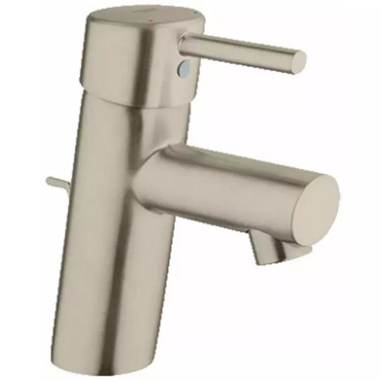 grohe concetto 1 2 gpm single handle single hole bathroom faucet with silkmove ceramic disc cartridge free metal drain assembly with purchase