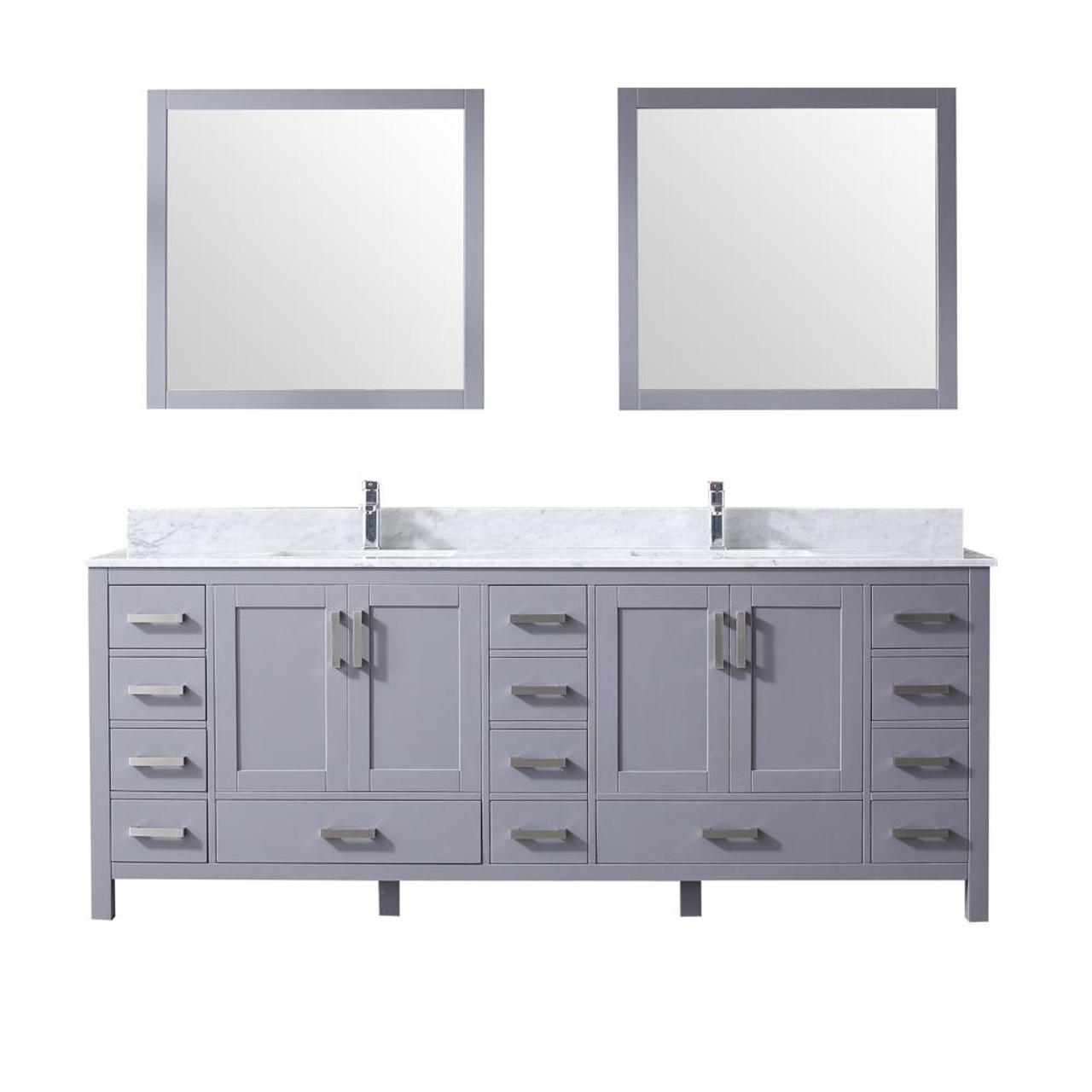 key west 84 double bath vanity in grey w quartz top white ceramic sinks