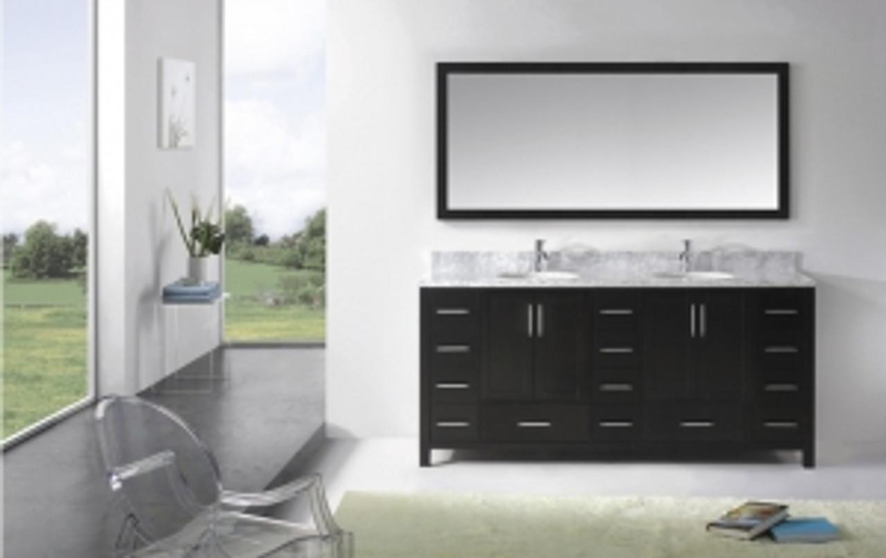 palmera 84 espresso bathroom vanity w quartz top double sinks
