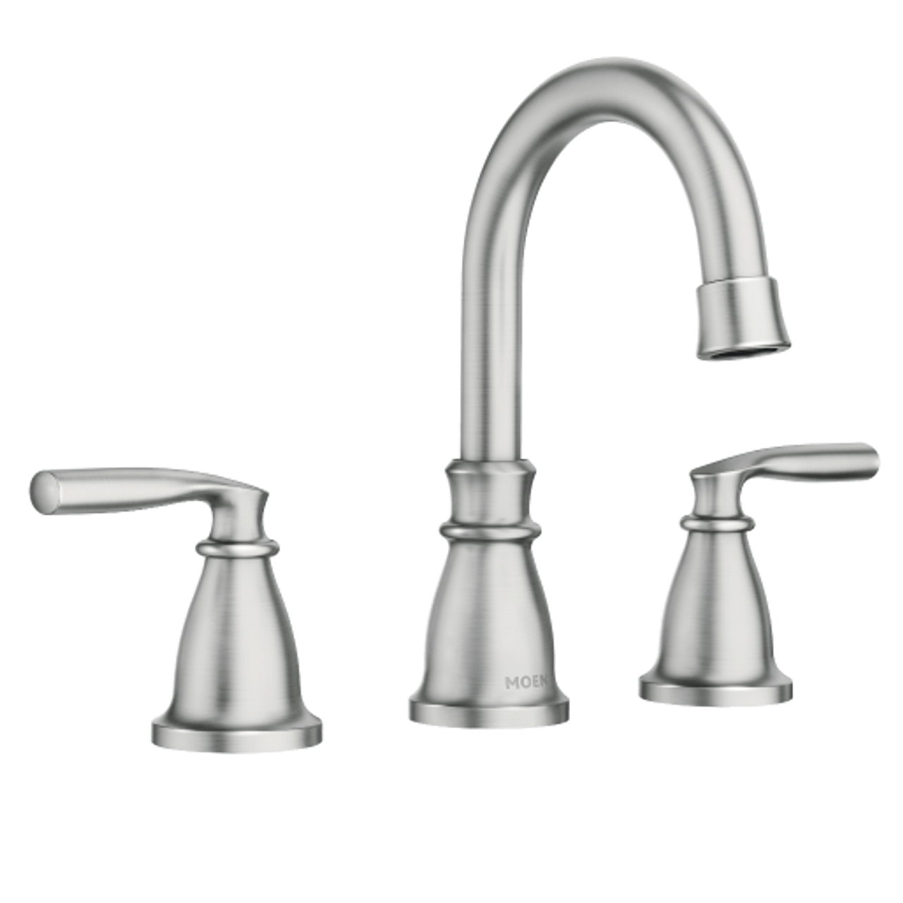 moen hilliard spot resist brushed nickel two handle high arc bathroom faucet