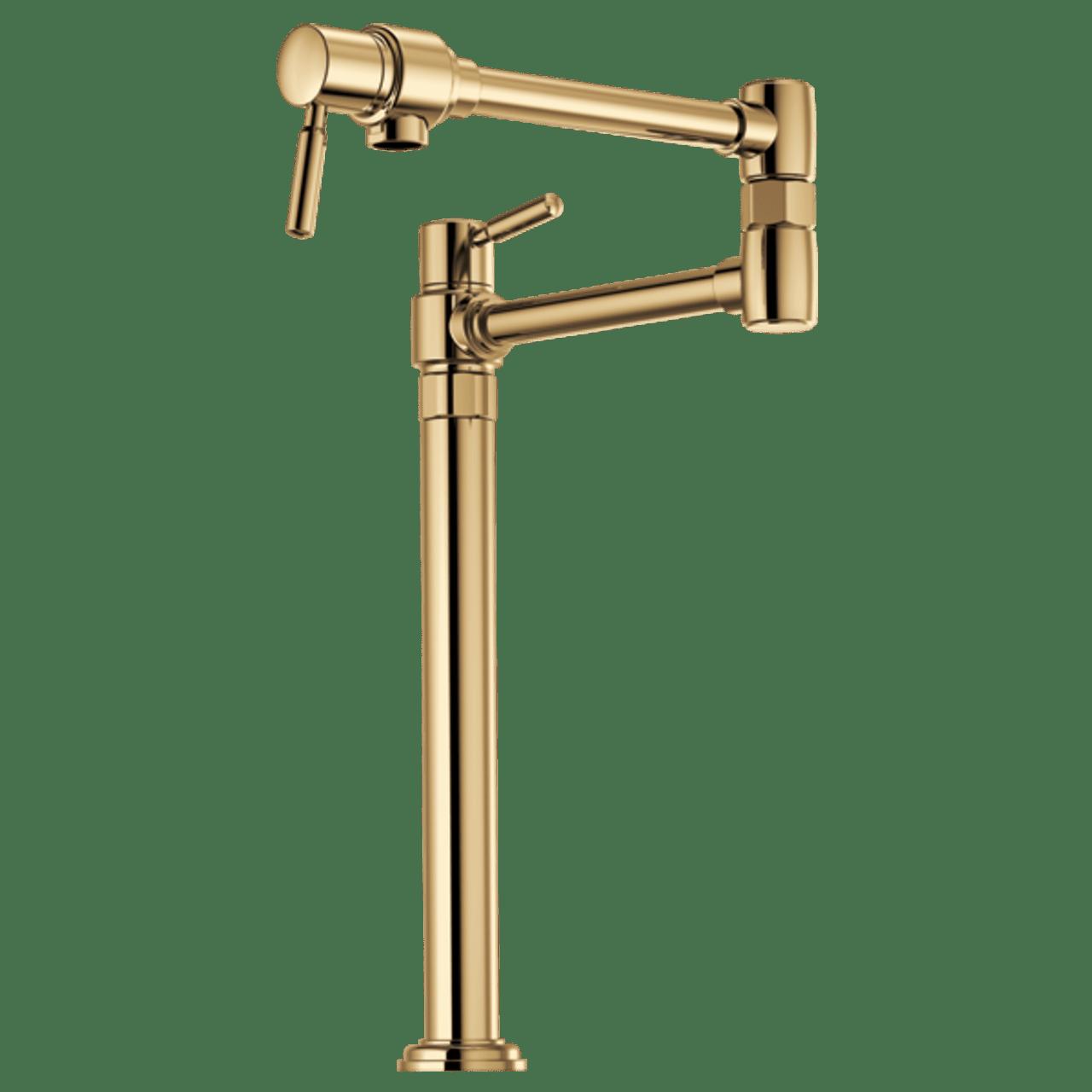 brizo euro deck mount pot filler faucet in polished gold