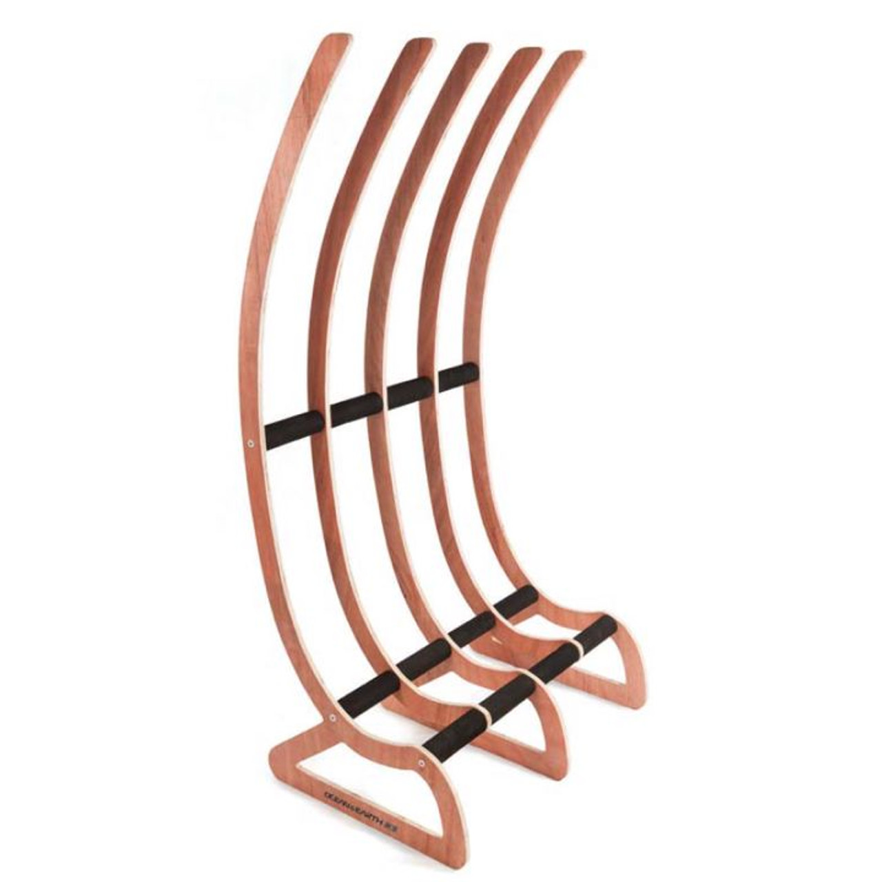 timber free standing surfboard storage rack ocean and earth