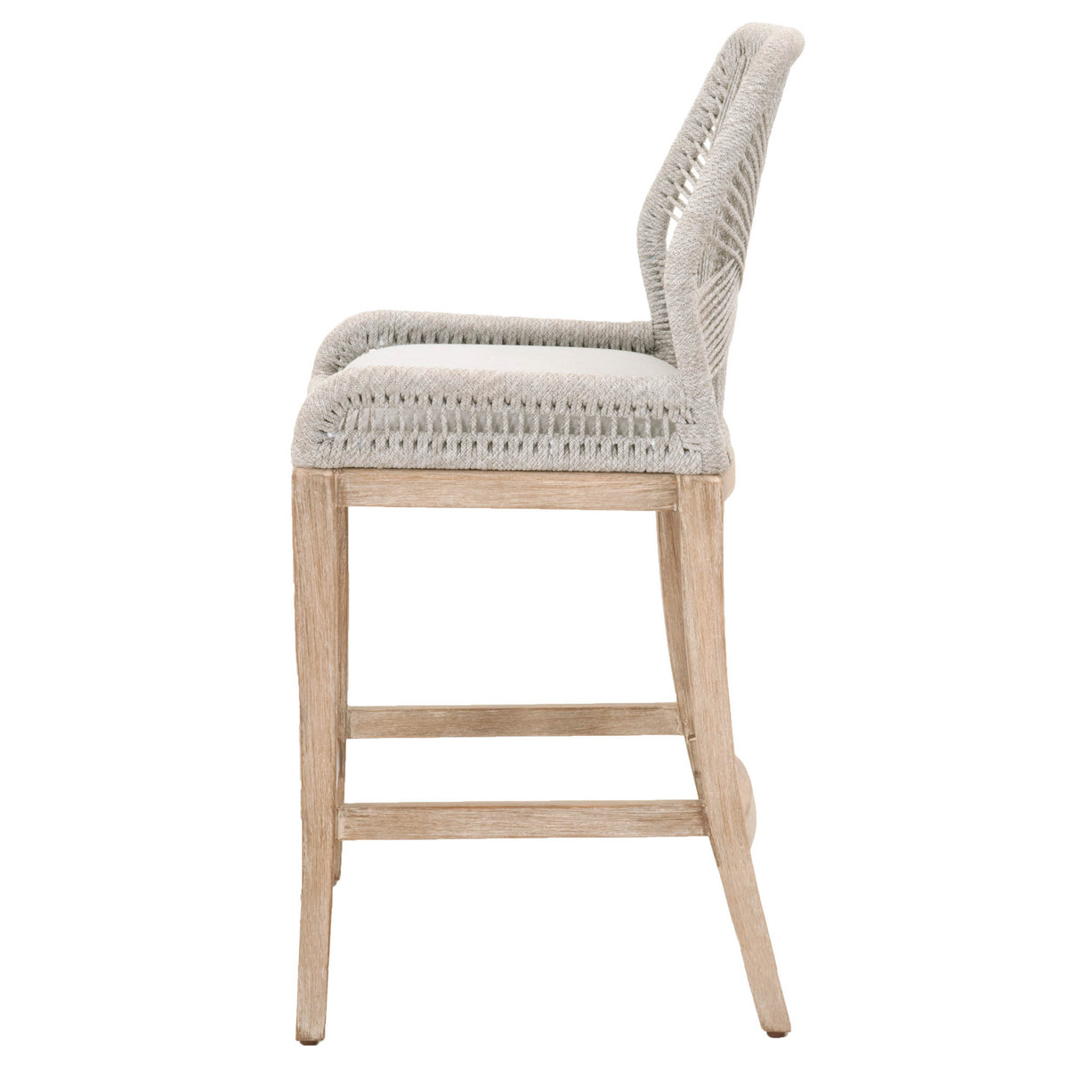 loom bar stool in taupe white
