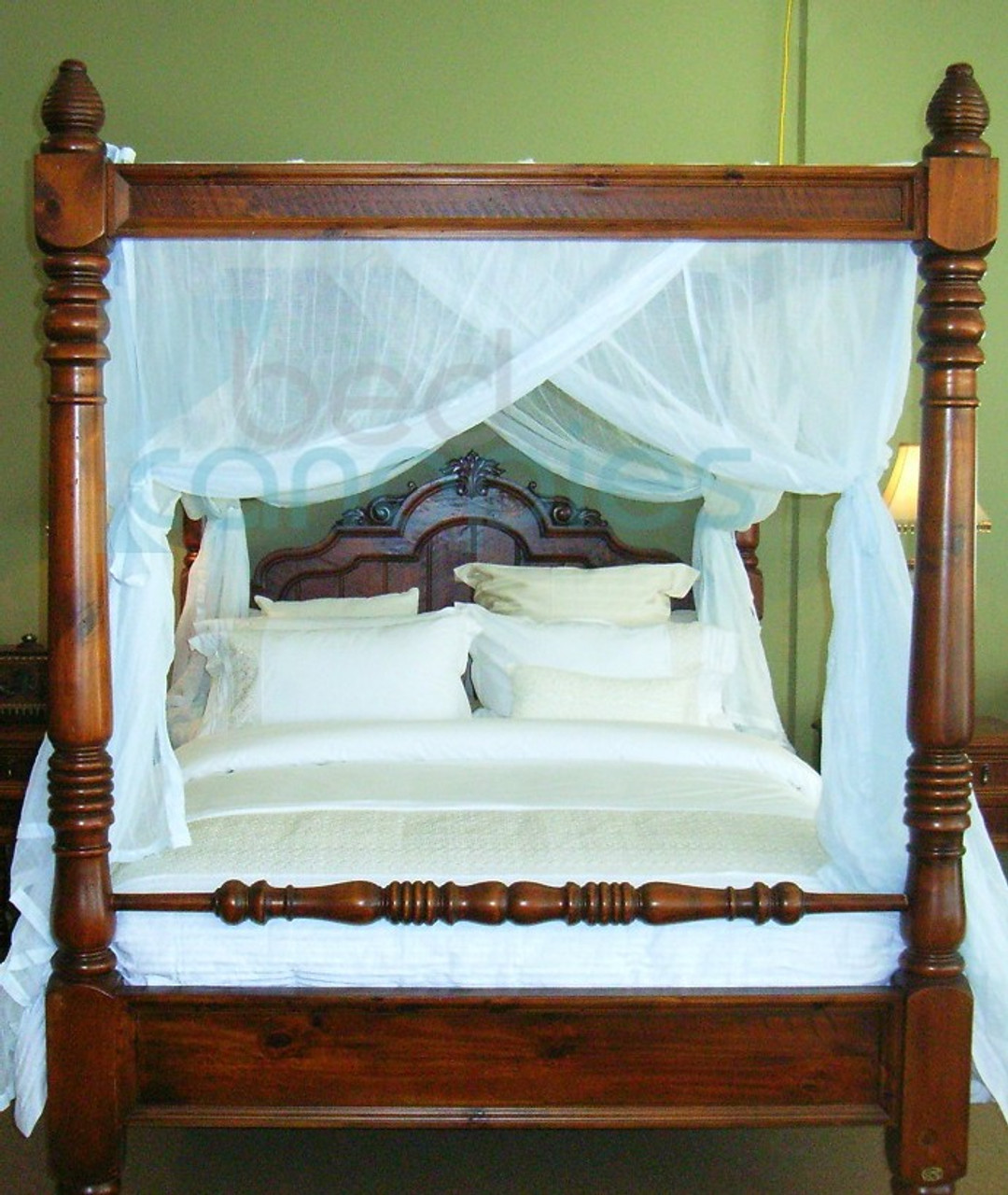canopy bed curtain cotton queen