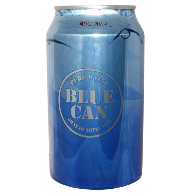 Blue Can Emergency Water 50 Year Shelf Life Pallet Of 2 400 Cans Emergencykits Com