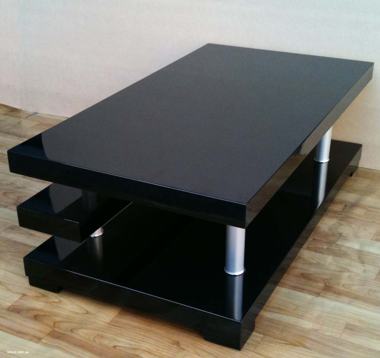 1 2m shiny gloss black coffee table roland