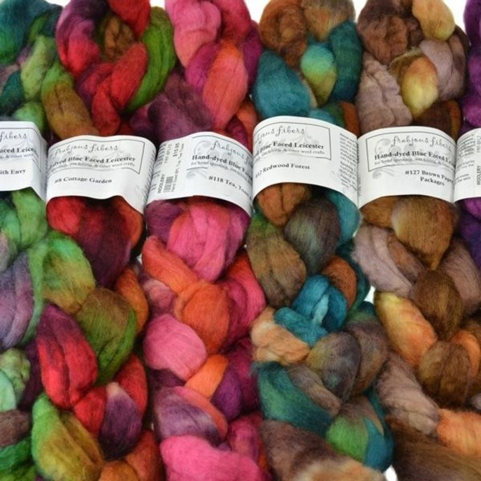 Frabjous Fibers Braids of Wool for Spining