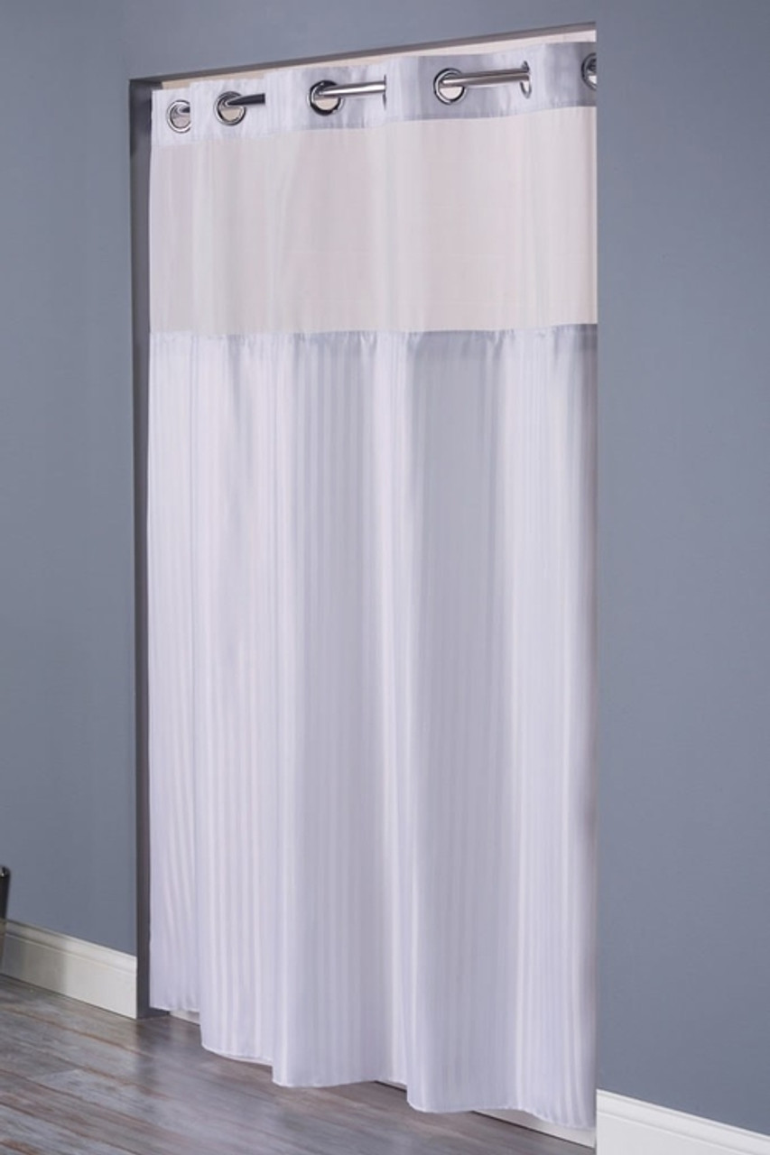 double h hookless shower curtain