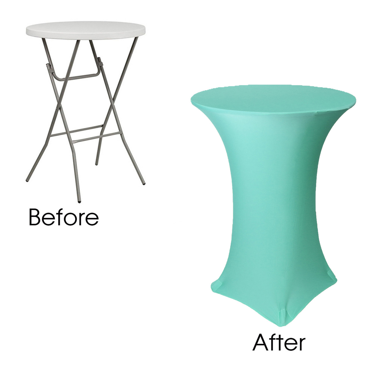 30 inch highboy cocktail round stretch spandex table cover tiffany