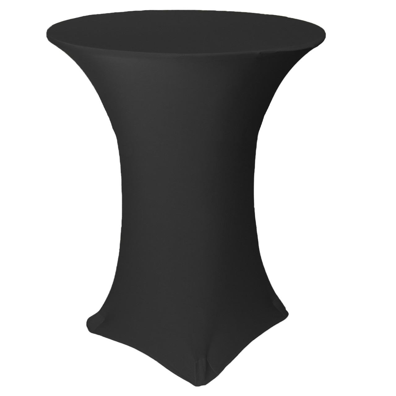 36 inch highboy cocktail round stretch spandex table cover black