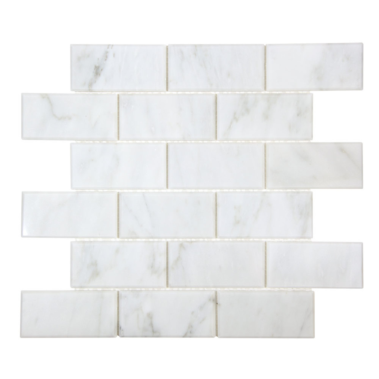 gulfstream carrara 2x4 beveled subway stone tile