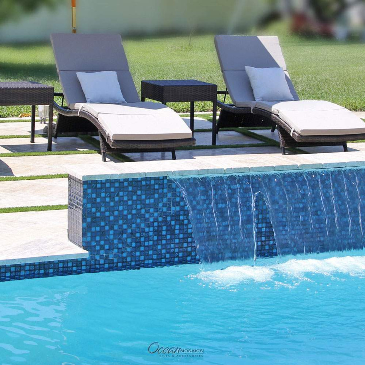 splash blue and black mix ng mos 8 pool tile