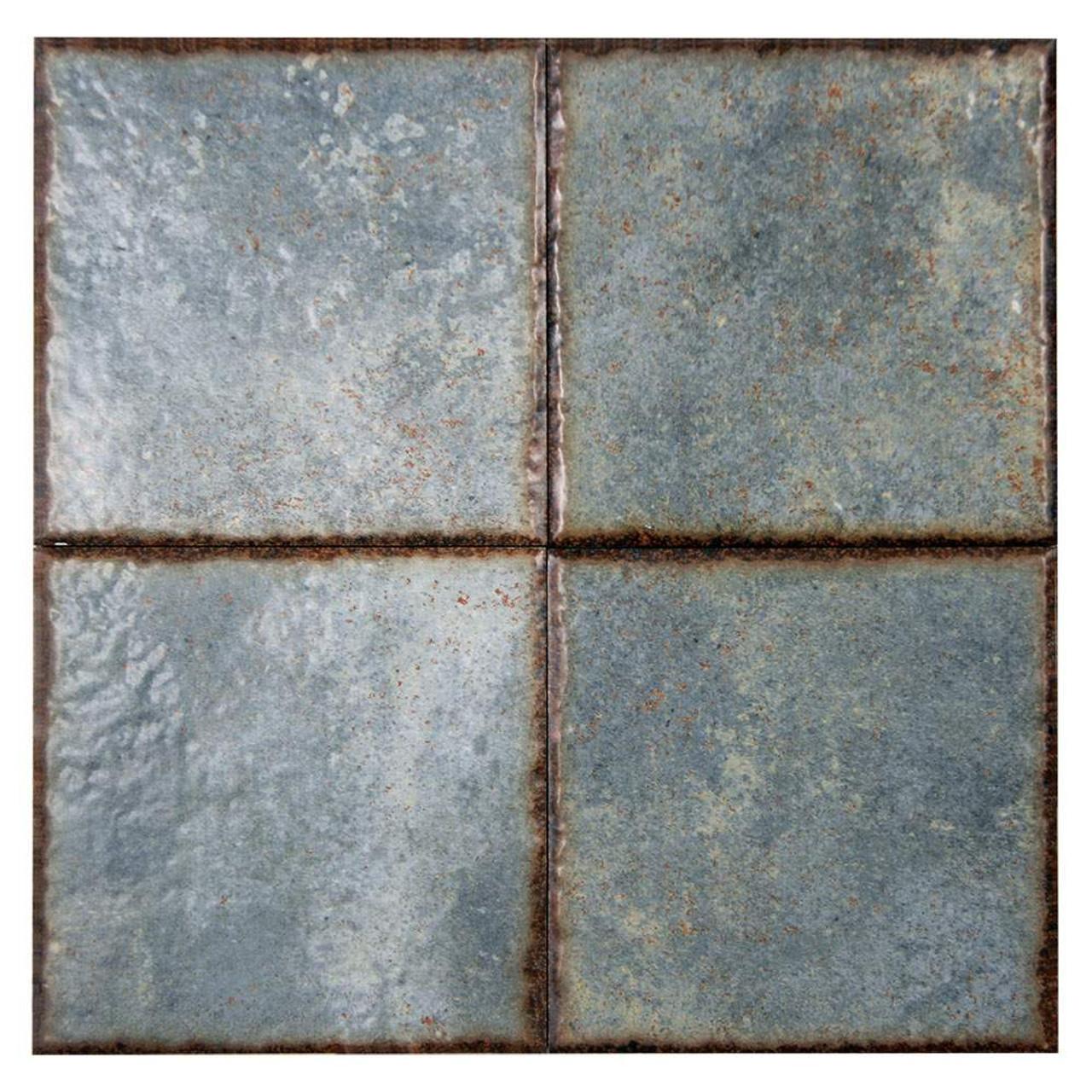 benisa green 6x6 porcelain pool grade tile box of 9 8 sq ft