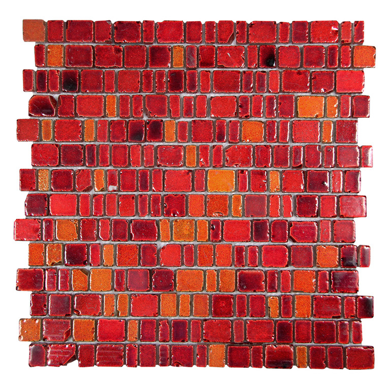 ice age fire red rustic glass tile