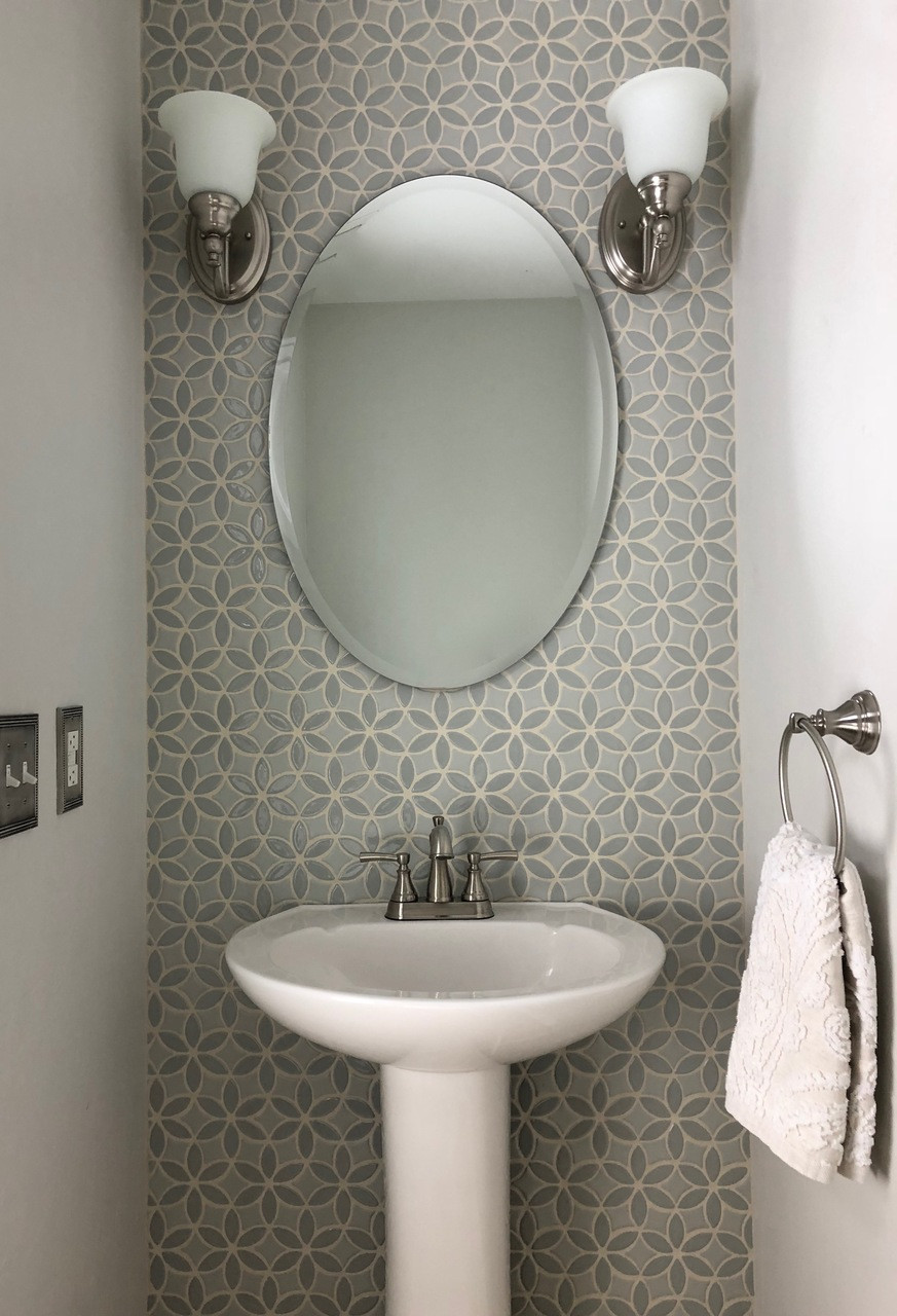 bloom handmade tile accent wall