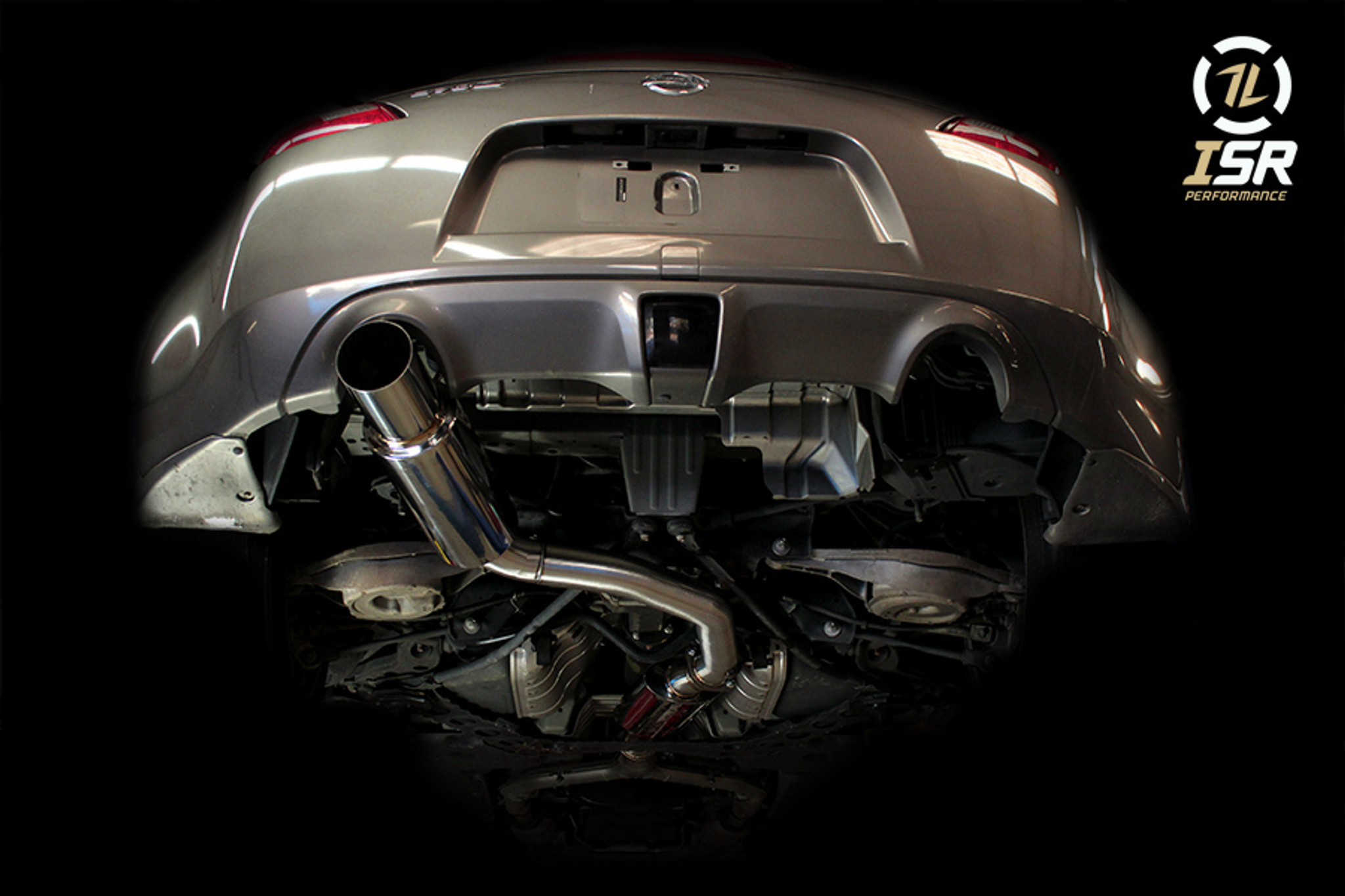 isr performance gt single exit exhaust nissan 370z