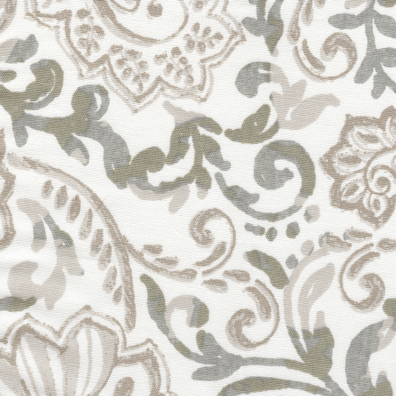 pinch pleated curtain panels in shannon ecru floral paisley
