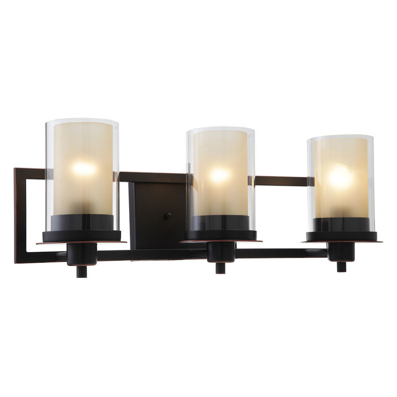 Juno Oil Rubbed Bronze 3 Light Wall Sconce / Bathroom ... on Bathroom Wall Sconce Lighting id=38705