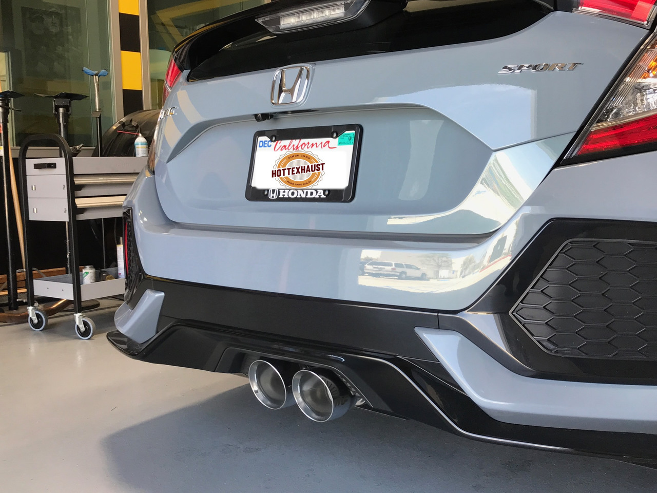 magnaflow 19373s honda civic hatchback sport 1 5l dual center exit stainless cat back performance exhaust system