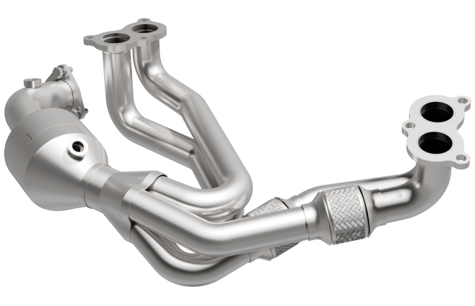 magnaflow 52587 subaru forester 2 5l front exhaust manifold with integrated catalytic converter oem grade federal