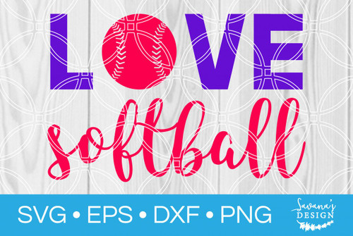 Download Softball Pitcher Love SVG - SVG EPS PNG DXF Cut Files for ...