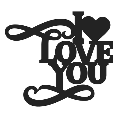 Download I Love You SVG - SVG EPS PNG DXF Cut Files for Cricut and ...