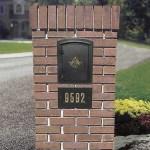 Column Locking Mailbox For Brick Or Stone Installation