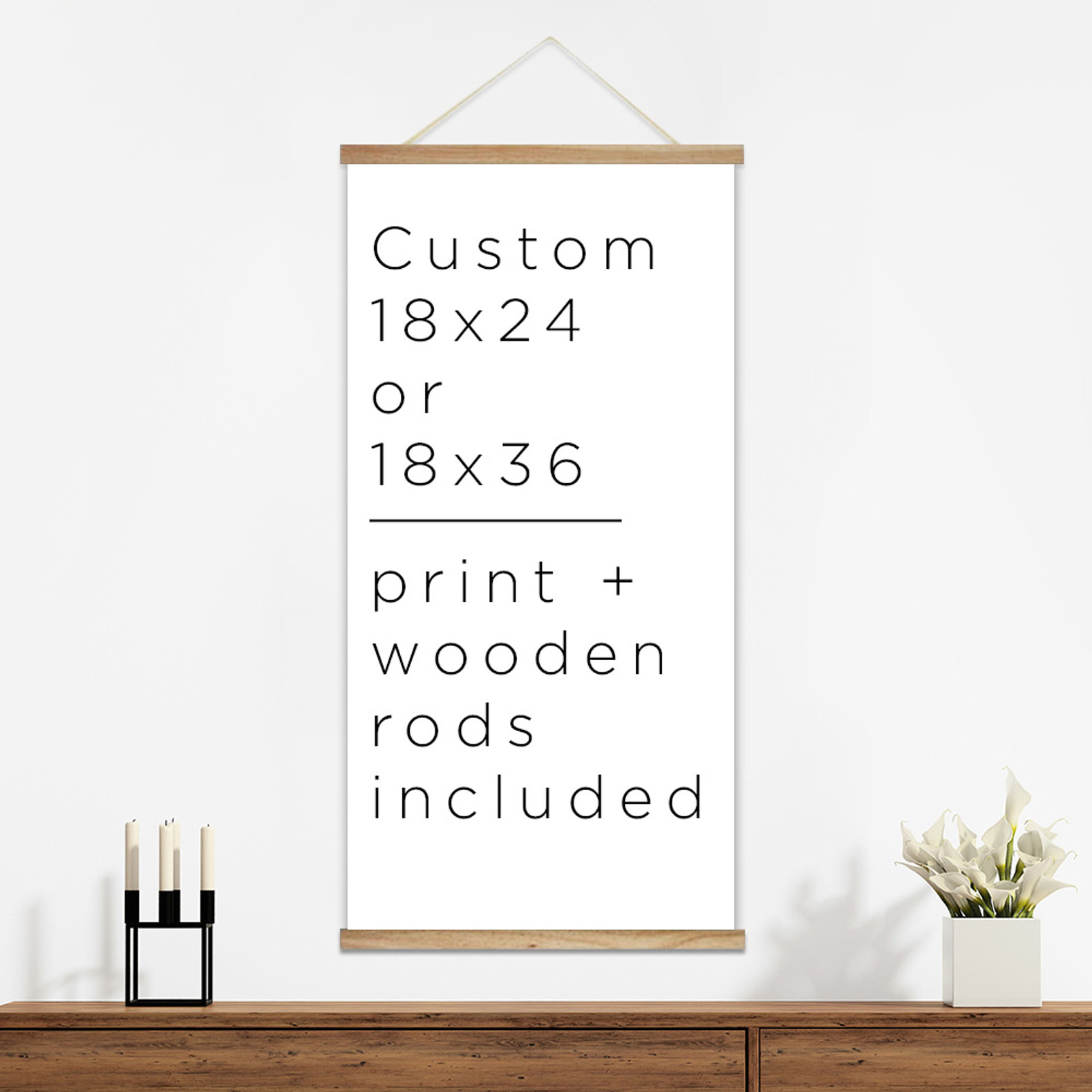 custom canvas poster hanger