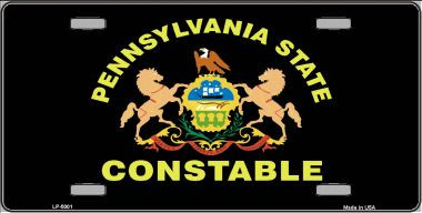 Pa Constable Star Seal Wholesale Metal Novelty License
