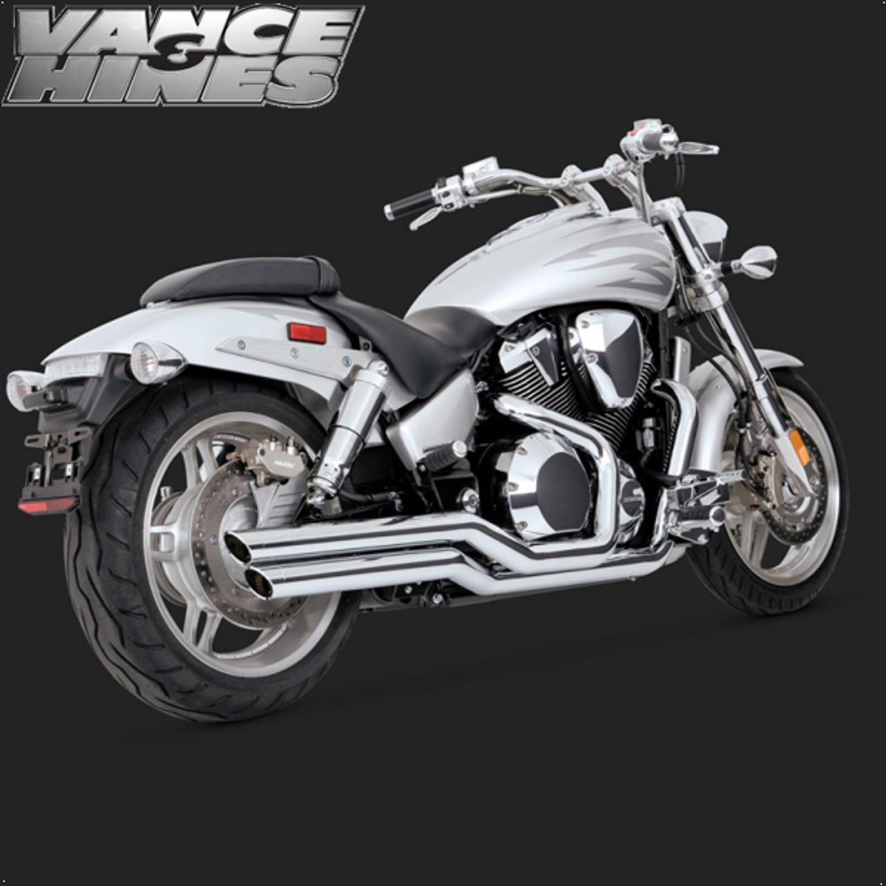 vance hines big shot full exhaust system honda vtx1800c 02 08