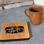 Bold Bike Kitchen Wood Trivet Bicycle Gifts