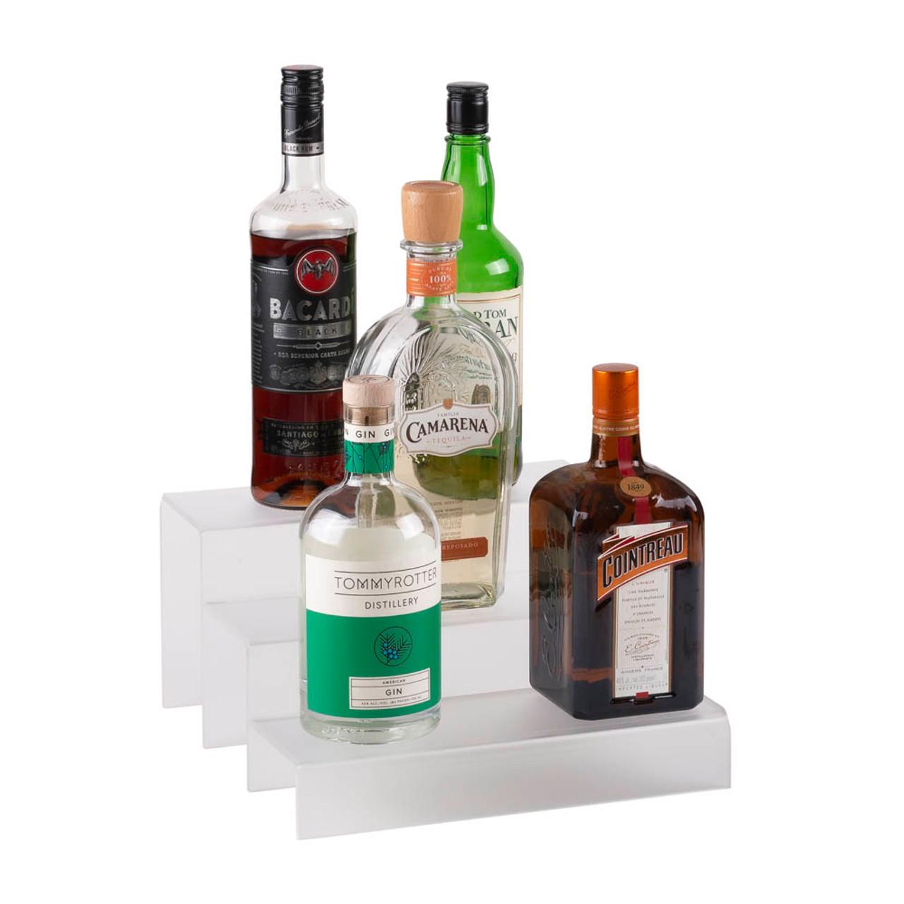 12 inch 3 tier liquor bottle shelf translucent