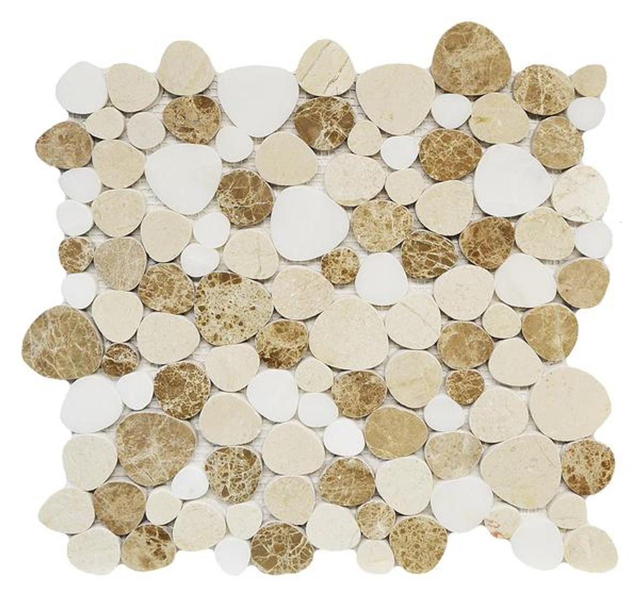 marmol light emperador white jade crema marfil mosaic