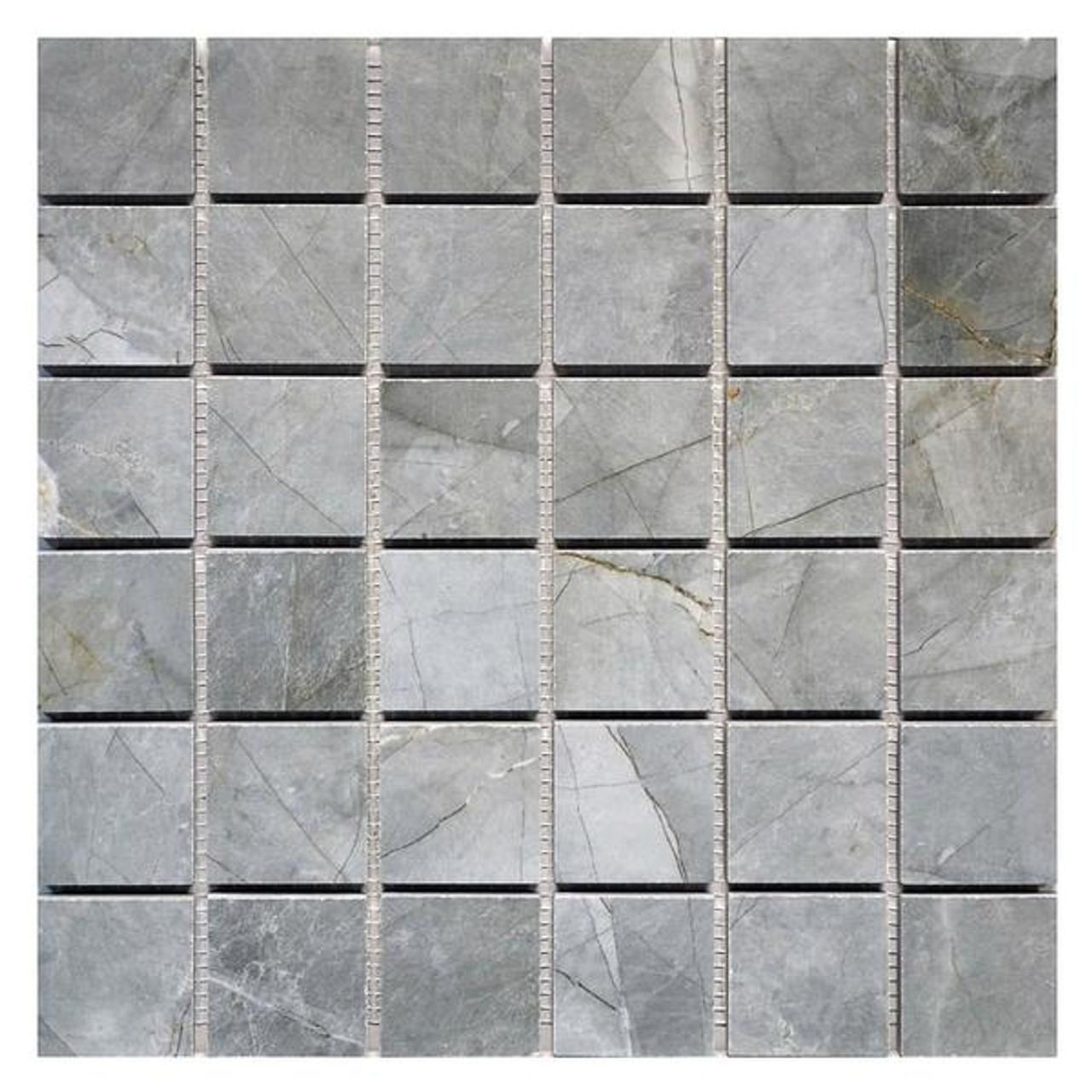marmi pulpis smoke matte 2x2 mosaic 12x12