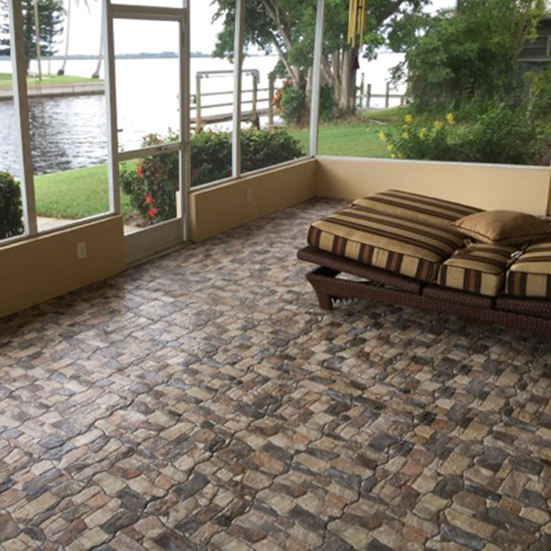 stone look tile for patios