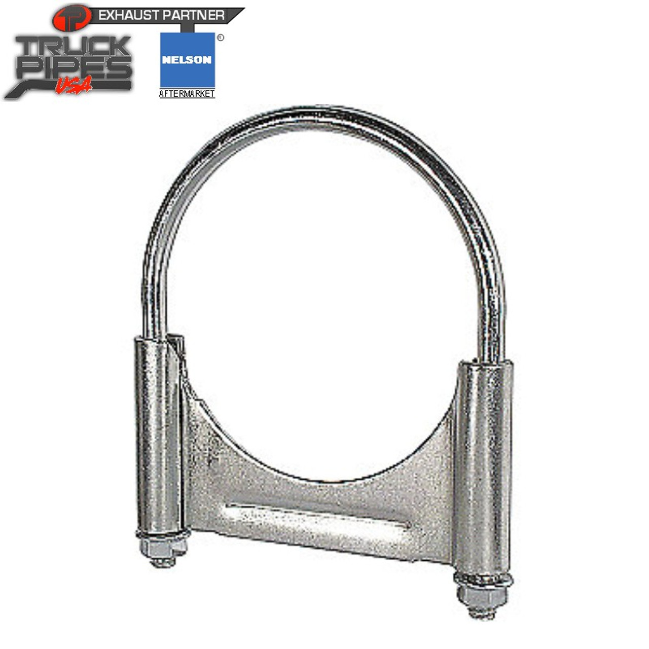 2 5 zinc plated u bolt guillotine exhaust clamp 89543k